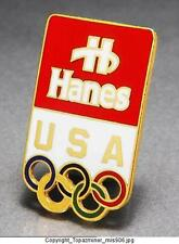 OLYMPIC PINS TEAM USA NOC HANES APPAREL SPONSOR LOGO DESIGN