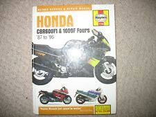 HAYNES SERVICE AND REPAIR MANUAL HONDA CBR600F1 and 1000FFOURS 87 TO 96