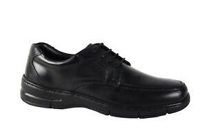 TSF Black leather laced comfort shoe UK 8 & UK 10 available