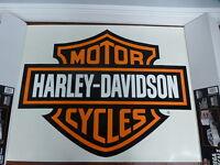 Harley-Davidson Bar & Shield Extra Large Trailer Decal Sticker Orange NEW