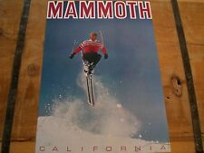Vintage 1960's *MAMMOTH MOUNTAIN* California SKIING Poster - Mint Condition!