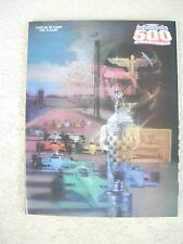 1988  Indianapolis Indy 500 Race Program 72nd Running Unser Foyt Andretti Rahal