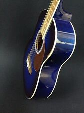Blueburst 3/4 Size VGS Traveler Steel-String Acoustic Guitar+Free gig bag,Picks