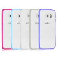 Samsung Galaxy S6 Case Dual Tone Transparent Soft Gel TPU Silicone Case Cover