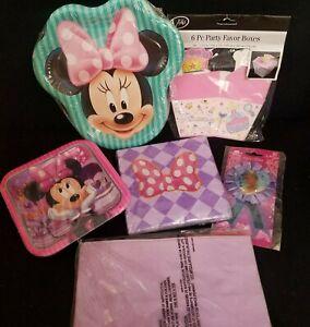 Minnie Mouse Birthday Party Set Plates Napkins Princess Girl Birthday Tea Party