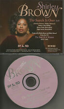 SHIRLEY BROWN The Search is Over ULTRA RARE 1998 PROMO DJ CD Single USA MINT