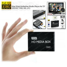 BOX TV MINI 1080P HIGH-DEFINITION MEDIA PLAYER HDMI USB SD AV CON TELECOMANDO