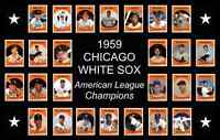 1959 CHICAGO WHITE SOX World Series Team POSTER Man Cave Decor Fan Xmas Gift
