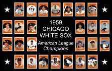 1959 Chicago White Sox World Series Baseball Card Poster Print Decor Art Gift