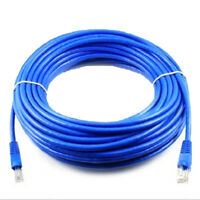 Flexible 50 FT RJ45 CAT5 CAT 5 High Speed Ethernet Lan Network Blue Patch Cable