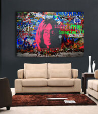 Imagine street art Graffiti  36 x 24 Canvas Print - John Lennon  Beatles
