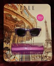 ELLE Girls Purple Sunglasses with Carry Case - Medium - BRAND NEW