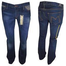 jeans da donna meltin pot nicole a zampa vita bassa pantaloni bootcut blu 27 30