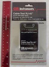 NEW GB Cable-Test RJ-45 LAN Tester GET-4010 Gardner Bender