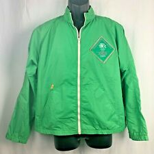 Vintage 80s Levis Olympic Games Jacket L Green Windbreaker Olympiad Los Angeles