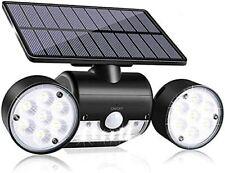 New listing Solar Light Outdoor with Motion Sensor Solar Wall Light with Dual Head Spotlight