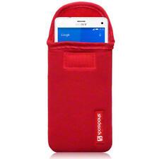 Étuis, housses et coques rouges en néoprène pour téléphone mobile et assistant personnel (PDA)