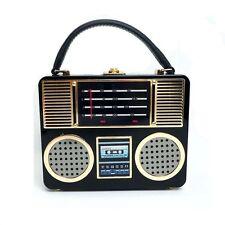 personality radio Acrylic shoulder bag party wedding evening bridal handbag