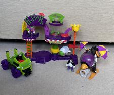 Imaginext DC Super friends Bundle Inc Joker Laff Factory, Penguin Copter & Figs