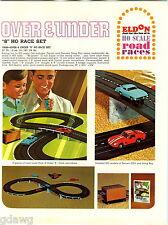 1966 ADVERT 5 PG Eldon Over Under Road Race Car Sets Twin Peaks HO Gauge Ferrari