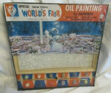 1964 World's Fair Paint by number Mid Century Art Painting New York City Queens