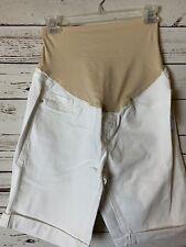 Old Navy WHITE Full Panel Maternity Denim Shorts--NWOT--Size 6