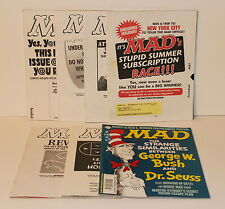 MAD MAGAZINE LOT of 8 Simpsons Michael Jackson Batman Dr Seuss Constantine