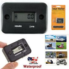 Small Waterproof Digital Hour Meter For Lawn Mower Generator Motorcycle ATV US