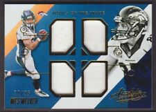 2014 Absolute Tools of Trade Quad JERSEY Gold #TT-WW Wes Welker 32/35 Broncos