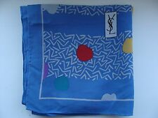 YSL Yves Saint Laurent bright silk scarf authentic luxury designer Italian women