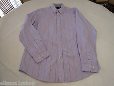 Tommy Hilfiger dress shirt long sleeve 7856801 Lavender 532 striped L Mens