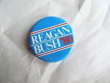 Cool Vintage 1980 Reagan Bush Presidential Candidates Political Campaign Pinback