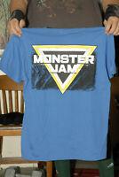 Monster Jam Monster truck t shirt large blue 2 sided arena