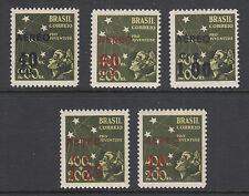 Brazil Sc C55-C59 MNH. 1944 Air Mail Surcharges, complete set, VF