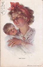 Vintage POSTCARD Baby Mine - 1910