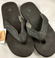 Men's Vintage Stone Chestnut Brown Flip flops Sandals Boat Shoes Xl 12-13 New