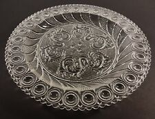 MMA Imperial Boston & Sandwich Peacock Eye & Thistle Clear Glass Plate(s) 8""