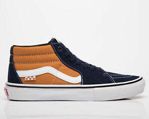 Vans Skate Grosso Mid Men's Navy Orange Casual Athletic Lifestyle Sneakers Shoes
