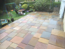 Raj Blend Indian Natural Sandstone Paving Garden Patio Slabs Flags 15.80m2 Pack