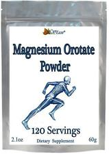 Magnesium Orotate POWDER ~ 120 Servings 500mg equal to 120 pills Capsules Tablet