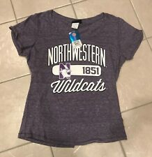 NWT Women's 5th & Ocean Short Sleeve Northwestern Wildcats sz XL T-shirt Purple