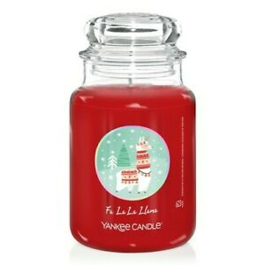 Yankee candle Fa La La Llama large Limited Edition jar Christmas New