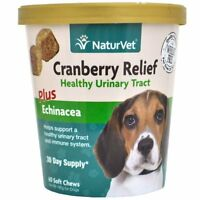 NaturVet CRANBERRY Relief and Echinacea Soft Chew Dog Urinary Tract 60 count Cup