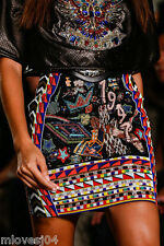 EMILIO PUCCI Embellished Multi Runway Skirt Beaded New BNWT 10 US 8 IT 42 £3295