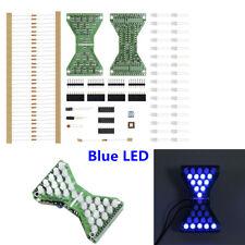 DC 5V Blue LED Electronic Hourglass Adjustable Speed Electronic DIY Kit