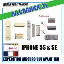 Bouton power volume vibreur Iphone 5S SE avec pastille métal collé IPHONE SE