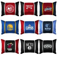 NBA BASKETBALL TEAM PILLOW SHAM - Sport Team Logo Jersey Mesh Pillow Cover