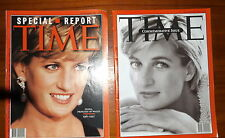 2 Time Magazines Princess Diana Commemorative Issue 1997 & Special Report Death