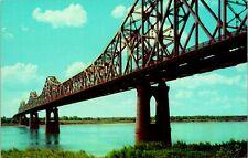 Baton Rouge LA Huey P Long Bridge Mississippi River Postcard unused (13087)