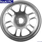 Hot Racing EXM45615 Radio Shack XMODs Split 6-Spoke Silver Aluminum Wheels